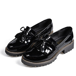 Wholesale Women Brown Oxford Heels - Spring and summer women's leather shoes Tassels, flat and restoring ancient ways shoes Thick soles and oxford shoes