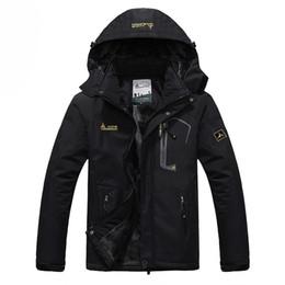 Wholesale Waterproof Coats Plus Size Women - Wholesale-Men's Winter Jackets Fleece Warm Windproof Outerwears Thermal Hooded Coats Women Waterproof Brand Men Jacket Plus Size 6XL LA443