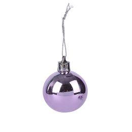 2019 palla di natale ornamento viola 20PCS / Box Christmas Tree Hanging Ornaments Festival Wedding Purple palla di natale ornamento viola economici