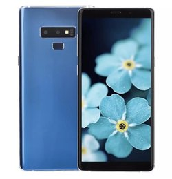 Wholesale Goophone note9 6.3inch Real Touch ID 4g Lte Phone Quad Core 1G Ram 16G Rom Add 64G Card Unlocked Smartphone Goophone note 9