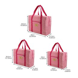 Bolsas de tela online-Yesello Oxford bolsa de viaje de tela bolso impermeable bolsa de ropa corbata barra de equipaje Equipaje Para viajes