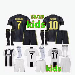 18 19 Juven RONALDO DYBALA HIGUAIN kids kit soccer jersey 2018 2019  MARCHISIO MANDZUKIC CHIELLINI BUFFON child Football Shirt uniform 303365027