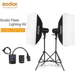 2019 fotografische lichtkits Beleuchtungsset Godox Strobe Studio Flash Light Kit 500W - Fotografische Beleuchtung - Blitze, Lichtstative, Auslöser, Softbox günstig fotografische lichtkits