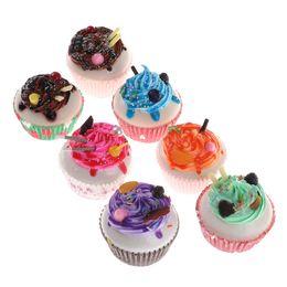 Wholesale Artificial Cake Decoration - Kawaii Simulation Artificial Cake Ice Cream Miniature Dollhouse Kitchen Toys Home Decoration Accessories Decor Craft Toys 1pcs