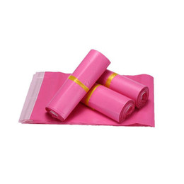 Wholesale Pink Poly Mailers - 28*42cm Pink Poly Mailer Envelopes Shipping Bag Plastic Mailing Bags Polybag Poly Mailer Free Shipping ZA5668