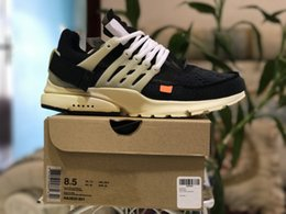 Wholesale Running Spring Shoes - With BOX New The Ten Off x Air Presto Virgil Abloh Men And Women Running shoes Outdoor White Sport Shoes US 5.5-11