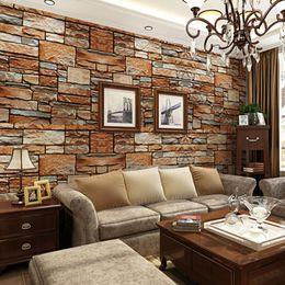 Wholesale Blue Sandstone - beibehang three-dimensional simulation messy rock stone culture stone wallpaper bedroom living room TV sofa backdrop wallpaper
