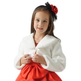 casacos de pele damas de honra Desconto Moda Infantil Meninas Faux Fur Manga Longa Da Dama De Honra Dama De Honra Do Casamento Cape Coat Jaqueta Acessórios 88 NSV775