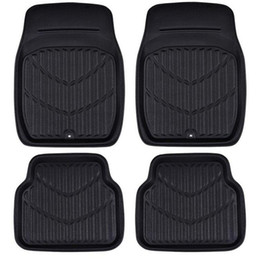 2019 cubeta para el maletero Car-pass Universal Car Floor Mats Negro / Rojo Car Interior Accessories Pvc Leather Impermeable Floor Mats Car-styling Protector