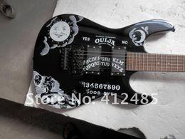 Canada Prix de gros vendeur Hot Guitar de haute qualité New noir KH-2 Kirk Hammett Ouija blanc guitare électrique Offre