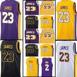 Wholesale ball stops - KID Men LeBron James Jersey 2018 New Men's #23 James 2 Lonzo Ball 0 Kyle Kuzma High quality Basketball Jerseys