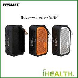 Canada Authentique Mod Wismec Active 80W Étanche Bluetooth Boîte à Musique Mod Avec Batterie Intégrée 2100mAh Dhl Envoi Rapide Offre