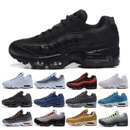 Wholesale ankle boots flats - 20th Anniversary MID Shoe 95s Sneakerboot 95 black white Army Boots Men Autumn Winter air cushion ankle Sealed-zip Running Shoes 36-45