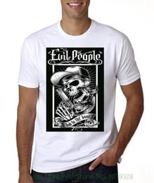 Top Qualité Coton Casual Hommes T-shirts Hommes Livraison Gratuite New Evil People Bad To The Bone T-shirt ? partir de fabricateur