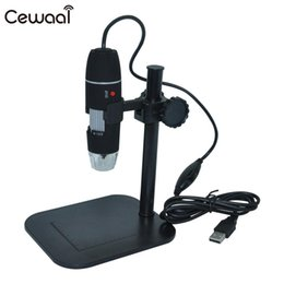 Wholesale portable usb microscope - Cewaal 50X-500X USB Portable Mini Cam Digital Microscope 8 LED Endoscope Electronic Magnifier Camera XP VISTA WIN 7 Black