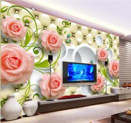 Canada Personnalisé photo 3d élégante rose 3d papier peint murale pour salon tv fond 3d papier peint murale cheap elegant living room wallpaper Offre