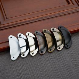 2019 maçanetas de porta de bronze antigo 2 pcs Metal retro armário gaveta puxadores de Bronze Antigo maçaneta da porta puxa móveis acessórios para casa decoração maçanetas de porta de bronze antigo barato