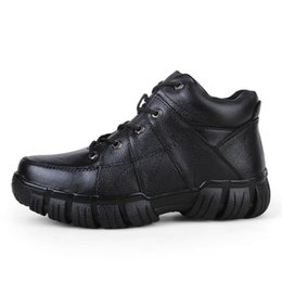 Wholesale Men Mountaineering Boots - 2017 new big size leather boots , fashion leisure men shoes ,winter sneakers for men ,mountaineering tactical boots,outdoor hiking shoes,