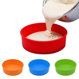 Wholesale Random Mold - New Fashion Random Color Round Bakeware Silicone Mold Baking Tools for Cakes Mold Silicone Baking Form Pastry Tools Cake Stencil