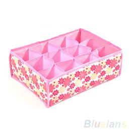 Wholesale Underwear Closet - 12 Cells Socks Underwear Ties Drawer Closet Home Organizer Storage Box Case