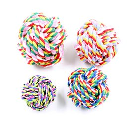 Pet Products Cotton Chew Knot Rope Pet Dog Toys Interactive Durable Ball Shaped Pet Dog Cotton Braided Toy Free Shipping DHL