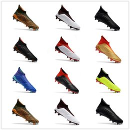 Wholesale leather indoor soccer shoes - Predator 18+ FG Soccer Shoes Football Shoes Predator 18.1 Outdoor Soccer Boots Men Football Cleats Soccer Sports Shoes 1000 Models 35-46