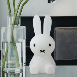 night lamps for kids Coupons - H28CM Led Rabbit Night Light USB for Children Baby Kids Gift Animal Cartoon Decorative Lamp Bedside Bedroom Living Room
