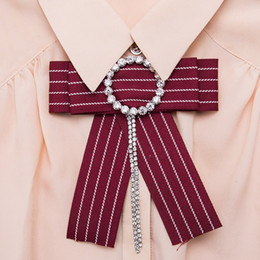 Wholesale Circle Wedding Dresses - Bow Pin Brooches for Women 2018 new fashion multilayer circle Brooch Wedding Dress Shirt Brooch Pin Handmade Accessories Good Gift wholesale