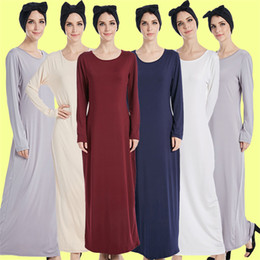 Wholesale Long Sleeve Maxi Dresses China - China Cheap Quality soft cotton pencil dress for wear under open abaya maxi jersey dress