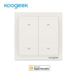 2019 câmera sem fio de controle remoto Koogeek 2 Gang WiFi Luz Wireless Switch Siri Luz Controle Remoto Switches Smart Home para HomeKit Alexa Google Assistant desconto câmera sem fio de controle remoto