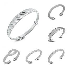 bracelet style style Promotion 925 Argent Bracelet Bracelets Pour Les Femmes Mélanger 6 Style 925 Argent Bijoux Brillant Femmes De Luxe Marque Amour Bracelets Argent Bracelet