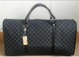 Wholesale Men Leather Duffle - NEW 55CM TOP fashion men women travel bag duffle bag, brand designer luggage handbags large capacity sport bag