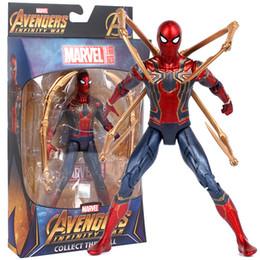 Figure di uomo di ragno online-Hot Toys Marvel Avengers Infinity War Iron Spider Spiderman Action Figure PVC Spider Man Figure da collezione Model Toy 17cm