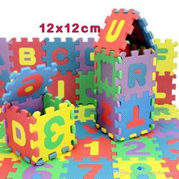 Английские пазлы онлайн-36шт/набор английского алфавита, цифры головоломки 12*12см ППО детский коврик ребенок головоломки мат мягкий коврик для детей