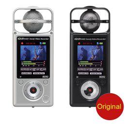 Wholesale Digital Slr Video Camera - ZOOM Q2HD 1080P HD video camera recorder digital professional voice music meeting mp3 recorder SLR micro audio sound recording