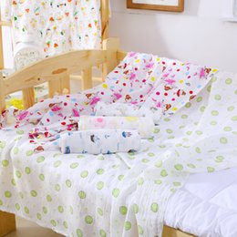 Wholesale Thin Summer Quilts - Wholesale summer newborn baby towels, double Muslim blankets gauze bath towel, infants and children, quilt, custom-made thin children