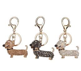 Wholesale dachshund pendant - Fashion Dog Dachshund Keychain Bag Charm Pendant Keys Holder Keyring Jewelry For Women Girl Gift Keychain Jewelry New