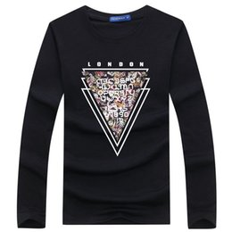 c174d568fb8b Fitted White Tee Shirts For Sale - Mens Clothing Letters Printed Long Sleeve  Tees Male Casual