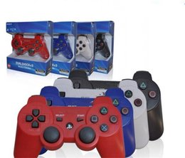 Wholesale Pc Game Wholesalers - With retail box For PlayStation 3 PS3 Wireless Bluetooth Game Controller Gamepad 11 colors best pc controller games