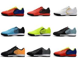 2019 sapatos de futebol Nike Tempo Legend VII TF Sapatos de Futebol Luz Tempo TF Turf Mens ACC Cristiano Ronaldo Futebol Botas Sapatos Neymar Chuteiras De Futebol sapatos de futebol barato