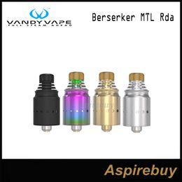 Wholesale Smallest Atomizer - VandyVape Berserker MTL RDA Atomizer Real Cigarette Inhaling Squok Electronic Cigarette Tank with Small Deck Big Capacity 100% Original