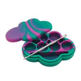 Récipient anti-adhésif en silicone Dab Grand récipient de stockage 6 cavités pour beaucoup de cire Besoin de forme en nuage 85ml ? partir de fabricateur