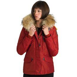 Wholesale Woman Goose Down Coat Sale - 2017 Hot Sale Luxury Parajumpers Women's denali down Jacket Hoodies Fur Fashionable Winter Coats Warm Parka Free Shopping Top Quality