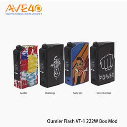 Baterias leves on-line-Genuine OUMIER Flash VT-1 222 W TC Box MOD Alimentado por células Dual 18650 Lightweight Cigarro Eletrônico Box Mod NO Bateria 100% Original