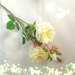 Wholesale beautiful flower vases - 1 PCS Beautiful Fake Artificial Flower Silk Rose Wedding Hotel Home Decoration Gift 4 Colors Available Without Vase