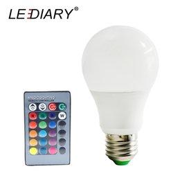 Ampoules LEDIARY 3W 5W 10W 85-265V RVB Dimmable LED E27 avec la décoration de télécommande à la maison de IR s'allume pour le salon ? partir de fabricateur