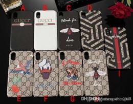 Canada cas pour iPhone XS max XR Marque Photo Serpent iPhone X 7 7 plus 6 6 plus 8 8 plus TPU Bee Silica Soft Shell Lanyard Téléphone Case Cover Offre