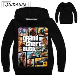 sweatshirts boys Coupons - GTA 5 Boys Hoodie For Boys 2018 Hot Sale Famous Brand Comfortable Sweatshirt Tees Game Shirt Kids Children Teen Clothing 3-13Y