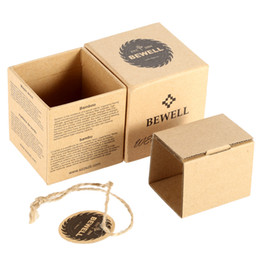 Wholesale Mini Box Watches - Bewell Watch Box Mini Square Cardboard Watch for Box Wristwatch Case Cute Jewelry Gift Multifunctional Storage