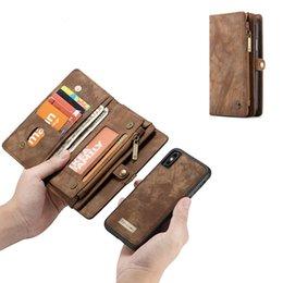 2019 étui porte-monnaie pour samsung galaxy note Étui portefeuille de luxe en cuir avec portefeuille pour iPhone 8 X 6 Max Galaxy S10 Plus S9 Note 8 pour iPhone X XS Max XR 7 étui porte-monnaie pour samsung galaxy note pas cher